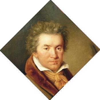 Ludwig van Beethoven, geschilderd door Joseph Willibrord Mähler in 1815